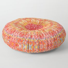 Flaming Star Mandala Floor Pillow