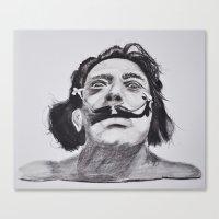 salvador dali Canvas Prints featuring Salvador Dali by Blasto17