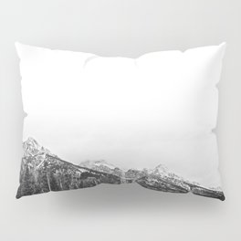 Grand Tetons in Black and White Pillow Sham