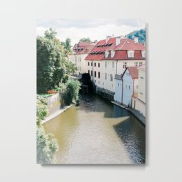 Prague Houses Metal Print