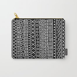 Black white hand painted geometrical aztec pattern Carry-All Pouch