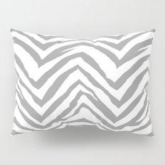 Chevron stripes zebra pattern minimal grey and white basic pattern nursery home decor Pillow Sham
