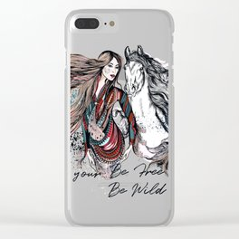 Be wild, be free, follow your dream Clear iPhone Case