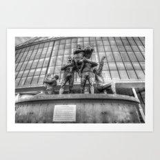 Rugby League Legends statue Wembley stadium Art Print