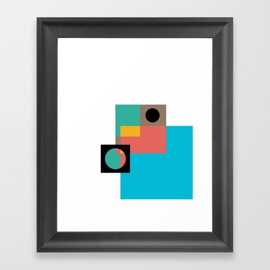 Geometric Crazy 1 Framed Art Print
