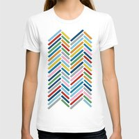 herringbone T-shirts featuring Herringbone Colour Zoom by Project M
