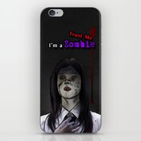 lawyer iPhone & iPod Skins featuring Trust me I'm a Zombie! by fatima almohd