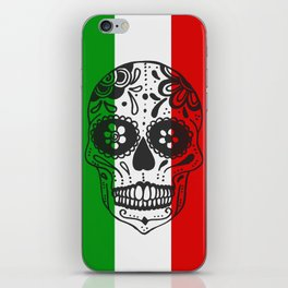 Mexican Skull With Italian Flag iPhone Skin