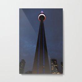 CN tower Glow Metal Print