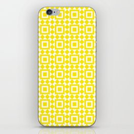Moroccan Tiles Yellow iPhone Skin