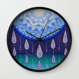 Moonlight Sonata Mandala Wall Clock