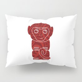 Tiki Monkey Pillow Sham