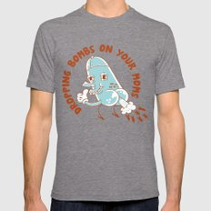 Droppin' Bombs Mens Fitted Tee Tri-Grey SMALL