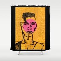 phil jones Shower Curtains featuring grace jones. by kasey rae
