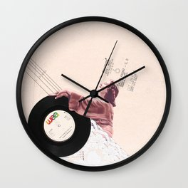 Lace & Vinyl Wall Clock