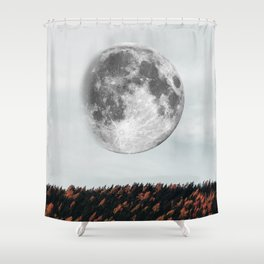 Moon in the fall Shower Curtain