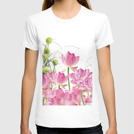 Field of Lotos Flowers T-shirt