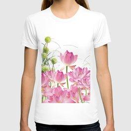 Field of Lotos Flowers T-shirt