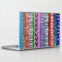 peru Laptop & iPad Skins featuring Peru Stripe II by Schatzi Brown