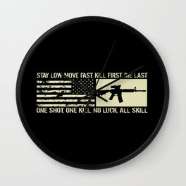M4 Assault Rifle & Tactical Flag Wall Clock
