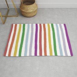 LGBTQ Rainbow Flag Cabana Stripes Rug