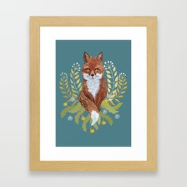 Fox Brown Framed Art Print