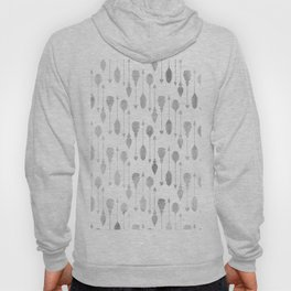 Simple white gray watercolor hand painted bohemian arrows feathers Hoody