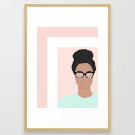 Chanelle wears glasses Framed Art Print