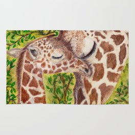 Giraffe and Calf Rug