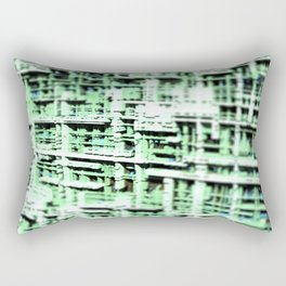 Abstract structure building house modern intricate pattern background Rectangular Pillow