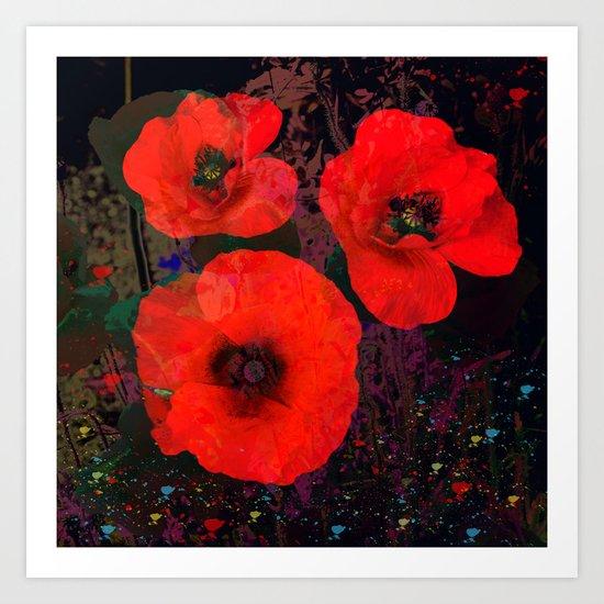 Popping Poppies Art Print