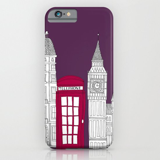Night Sky // London Red Telephone Box iPhone & iPod Case