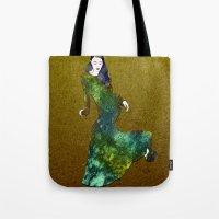 dress Tote Bags featuring Favorite Dress by Stevyn Llewellyn