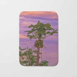 Papaya Tree And Brazilian Sunset Bath Mat