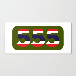 555 in the colors of the Thai flag Canvas Print