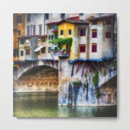 Small Balcony on Ponte Vecchio Metal Print