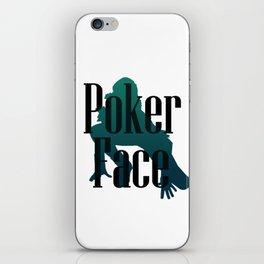 Poker Face iPhone Skin