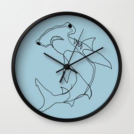 Hammerhead Shark (blue) Wall Clock