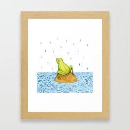 Rain Frog Framed Art Print