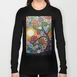 Abstract Art Landscape Original Painting ... Memory of Magic Long Sleeve T-shirt