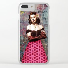 Live A Beauty Full Life Clear iPhone Case