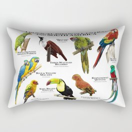 Tropical Birds of South and Central America Rectangular Pillow