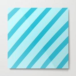 Minty Stripes Metal Print