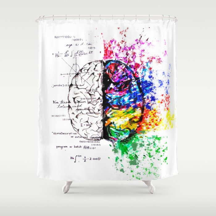 Conjoined Dichotomy Shower Curtain