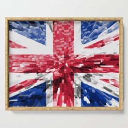 Extruded Flag of the United Kingdom Serving Tray