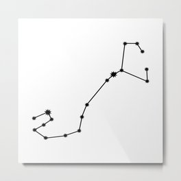 Scorpio Astrology Star Sign Minimal Metal Print