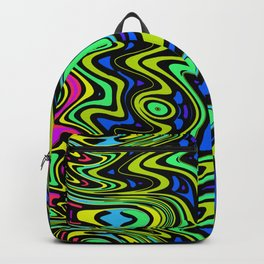 Cartoon colorful psychedelic way Backpack