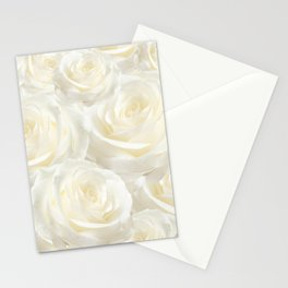 Ivory Roses Stationery Cards