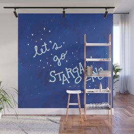 Let's Go Stargazing Wall Mural
