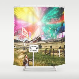 Welcome To Wyoming Shower Curtain